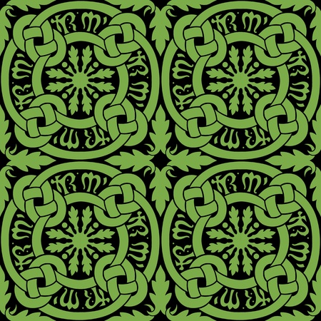 Celtic Knot Tile Pattern Vector