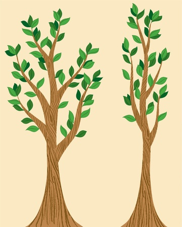 Stylized Trees Stock Vector - 9604565