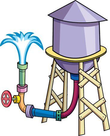 tuberias de agua: Torre de agua