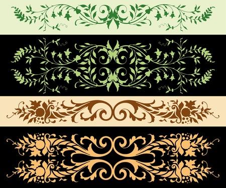 Leafy Ornaments Illustration