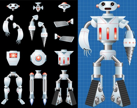 body parts: Build Your Own Robot Illustration