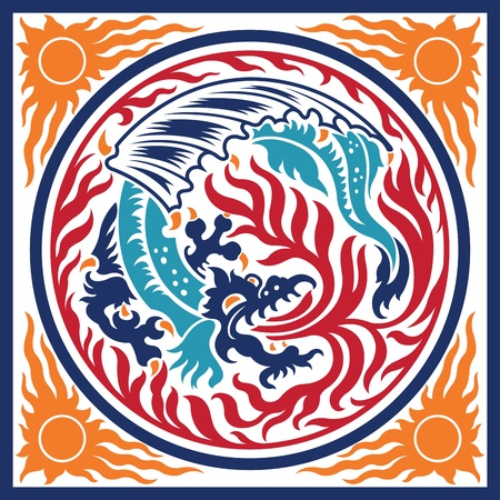 Dragon Fire Element Symbol