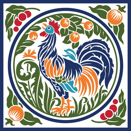 Rooster Earth Element Symbol Stock Vector - 11212540