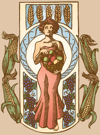Harvest Goddess Stock Vector - 12231942