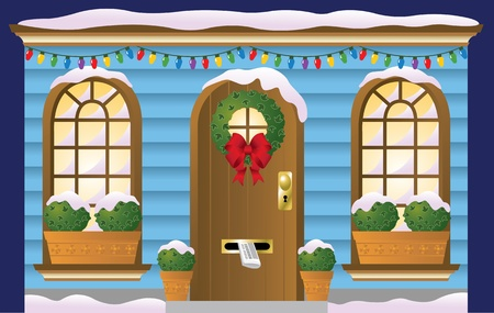 Holiday Doorway Vector