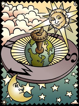 cadran solaire: C�leste Sundial Illustration