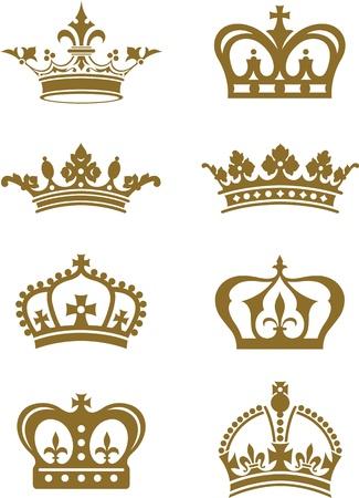 trono real: Coronas Vectores
