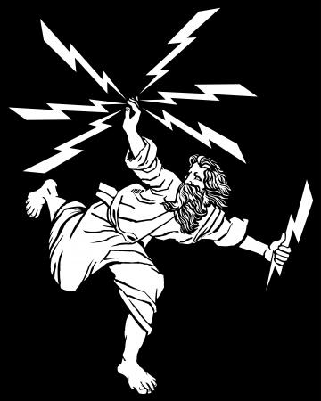 Greek God Zeus Illustration