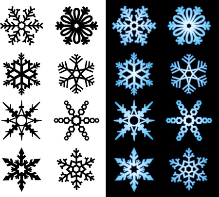 Snowflake Icons Stock Vector - 15367626