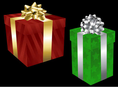 Holiday Gift Boxes Vector