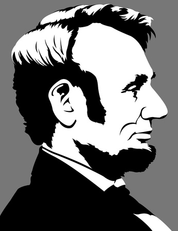 president of the usa: Abraham Lincoln Illustration