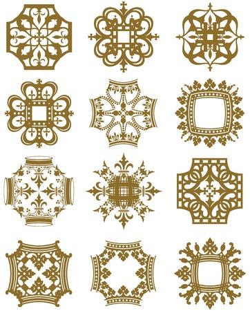 Crown Symbols Illustration
