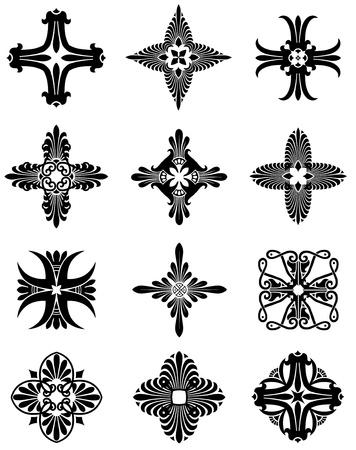 Greek Cross Icons Illustration