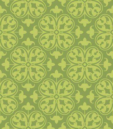 seamless clover: Seamless Clover Damask Pattern