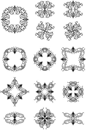 Gothic Ornaments Illustration