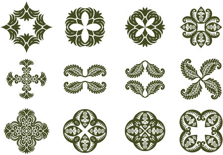 Floral Damask Design Icons
