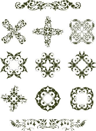 Leafy Design Icons Illustration