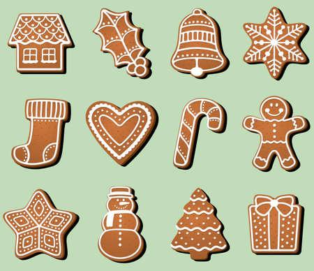 ジンジャーブレッド クリスマスのクッキー