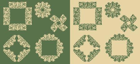 ivy vine: Art Nouveau decorative floral frames