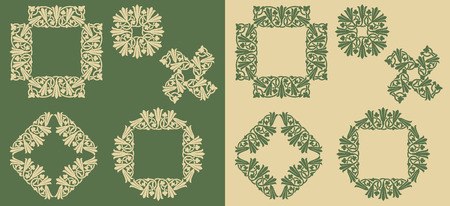 Art Nouveau decorative floral frames