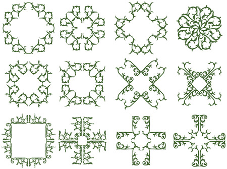 Decorative floral thorny frames