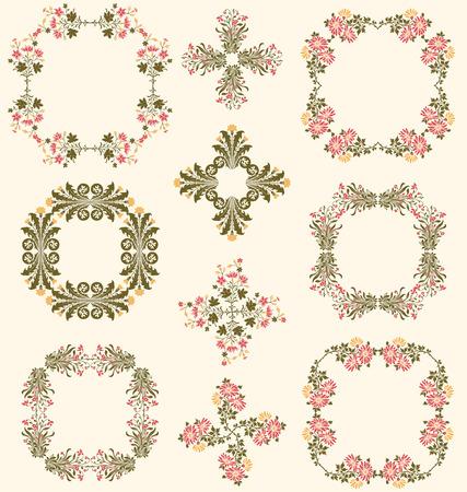 fiori di campo: cornici decorative Wildflower e bordi