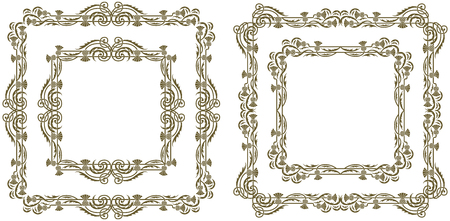 Art Nouveau decorative floral frames and borders
