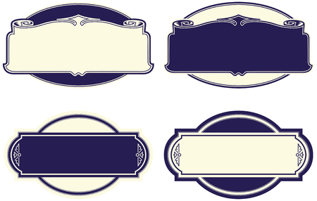 Blank design labels and signs Illustration