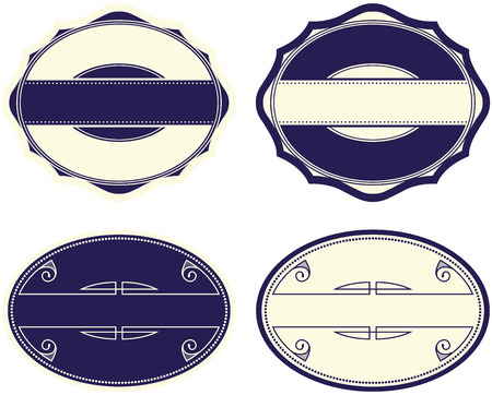 Blank design labels and signs Illustration