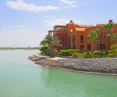 Large luxury waterfront residence in a tropical resort Stock Photo - 7545687