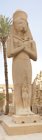 Statue in temple of Ramses III at Karnak in Luxor Stock Photo - 8831719