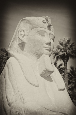 Small sphinx outside the entrance to Luxor Temple in Egypt with an antique effect Stock Photo - 8831724