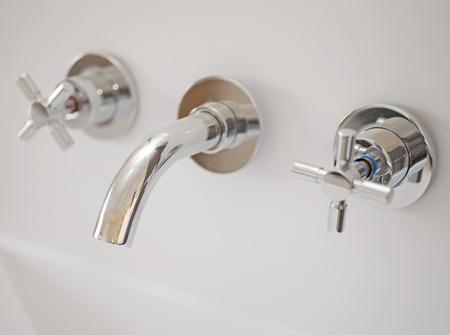 handbasin: Washbasin tap in a bathroom
