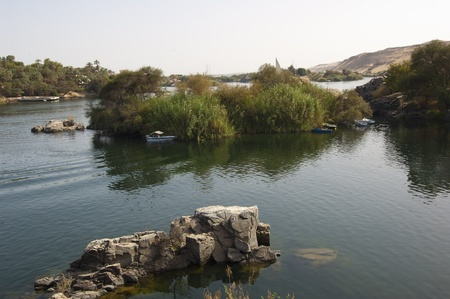 cataracts: View of the River Nile from Kitcheners Island with cataracts in the middle