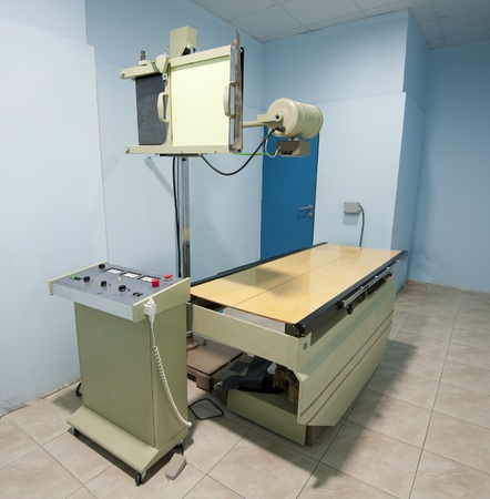 X-ray machine in medical center hospital room photo