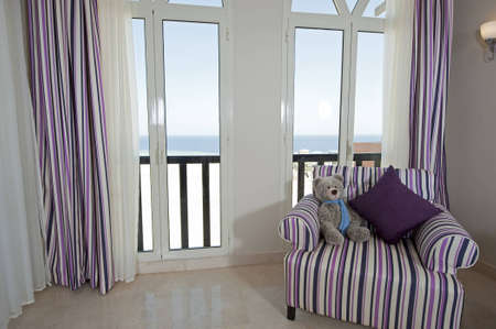 Inter design of a luxury apartment living room with a sea view Stock Photo - 12647400