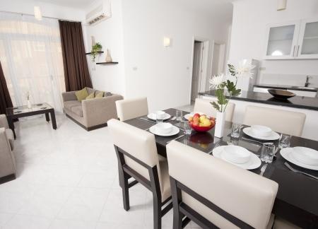 Surface habitable d'un appartement de luxe montrant design d'intérieur Banque d'images - 13611867