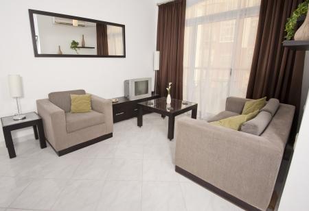 Surface habitable d'un appartement de luxe montrant design d'intérieur Banque d'images - 13611897