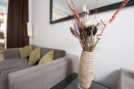 Living area of a luxury apartment showing interior design photo