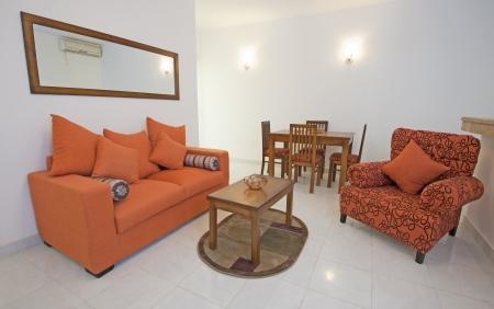 Luxury show home apartment showing living room interior design Banco de Imagens - 13918858