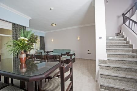 show home: Interior design of a luxury apartment show home Stock Photo