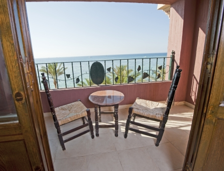 Tropical sea view from a luxury hotel balcony Stock Photo - 14716014