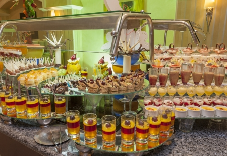 Large selection of desserts at a buffet in luxury hotel Stock Photo - 15919810