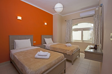 show home: Bedroom in a luxury apartment show home with interior design