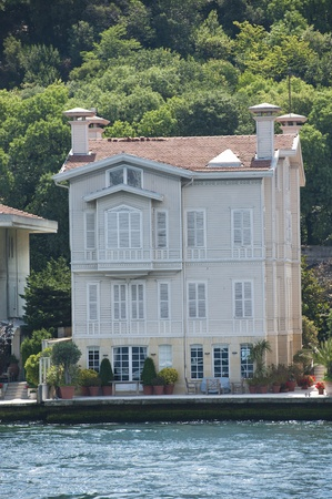 Large luxury villa on the water front Stock Photo - 23003966