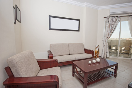 Interior of show home living room showing interior design photo