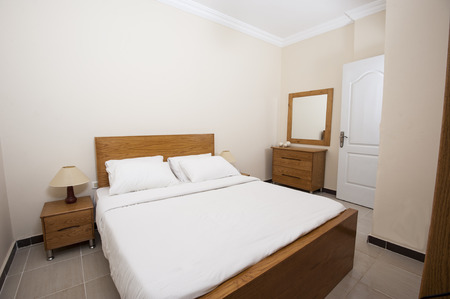 show home: Interior of show home bedroom showing interior design concept
