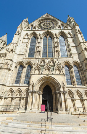 english famous: Famous old medieval english cathedral in city center