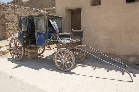 footplate: Old traditional egyptian galesh horse carriage Stock Photo
