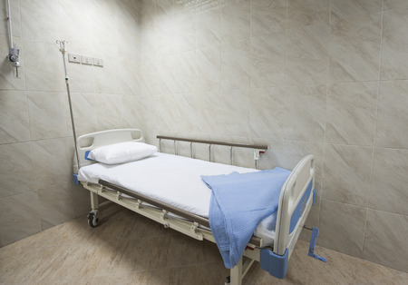 private hospital: Beds in a private hospital medical center ward room